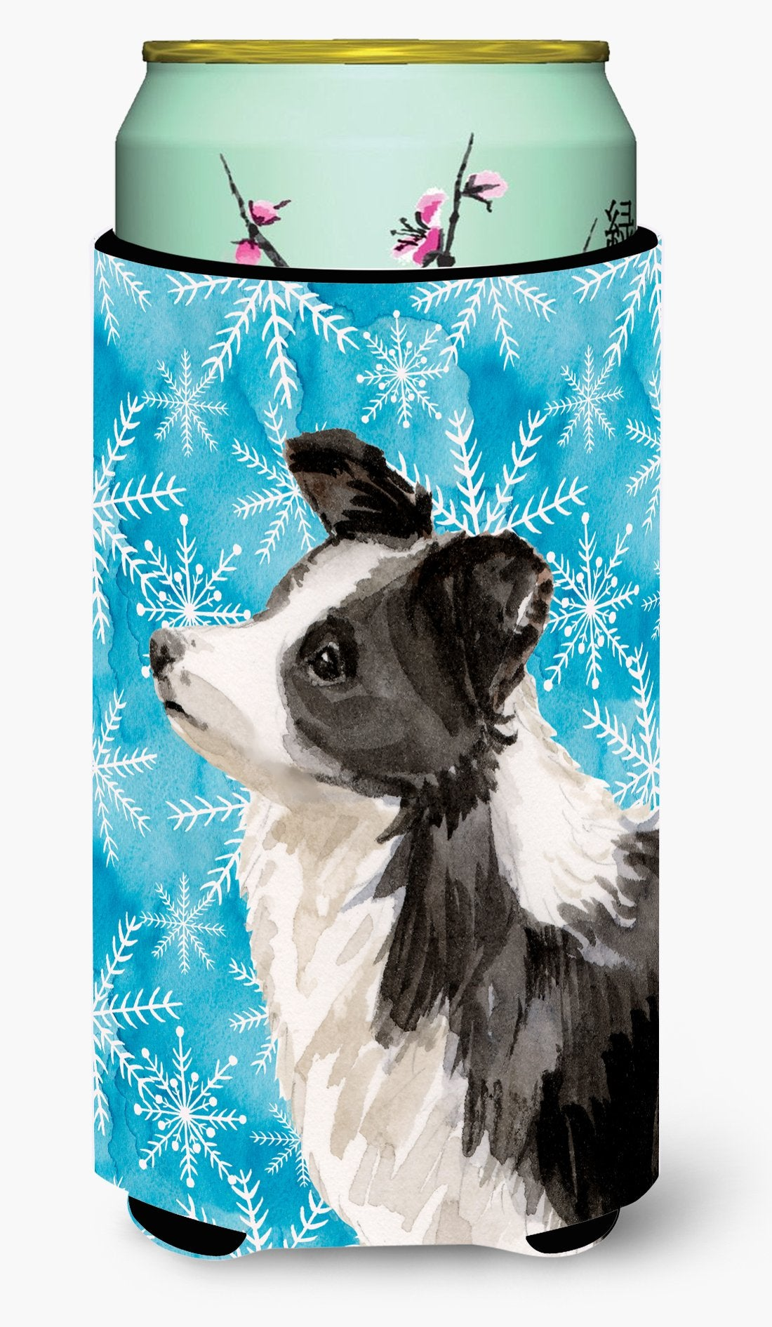 Border Collie Winter Tall Boy Beverage Insulator Hugger BB9443TBC by Caroline's Treasures