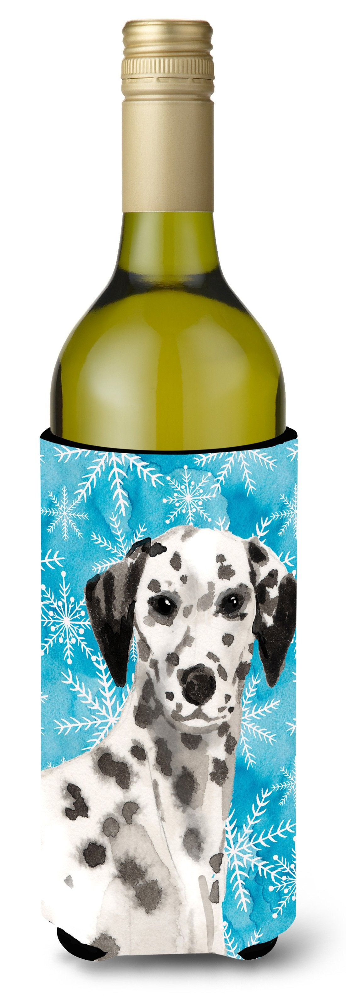 Dalmatian Winter Wine Bottle Beverge Insulator Hugger BB9450LITERK by Caroline's Treasures