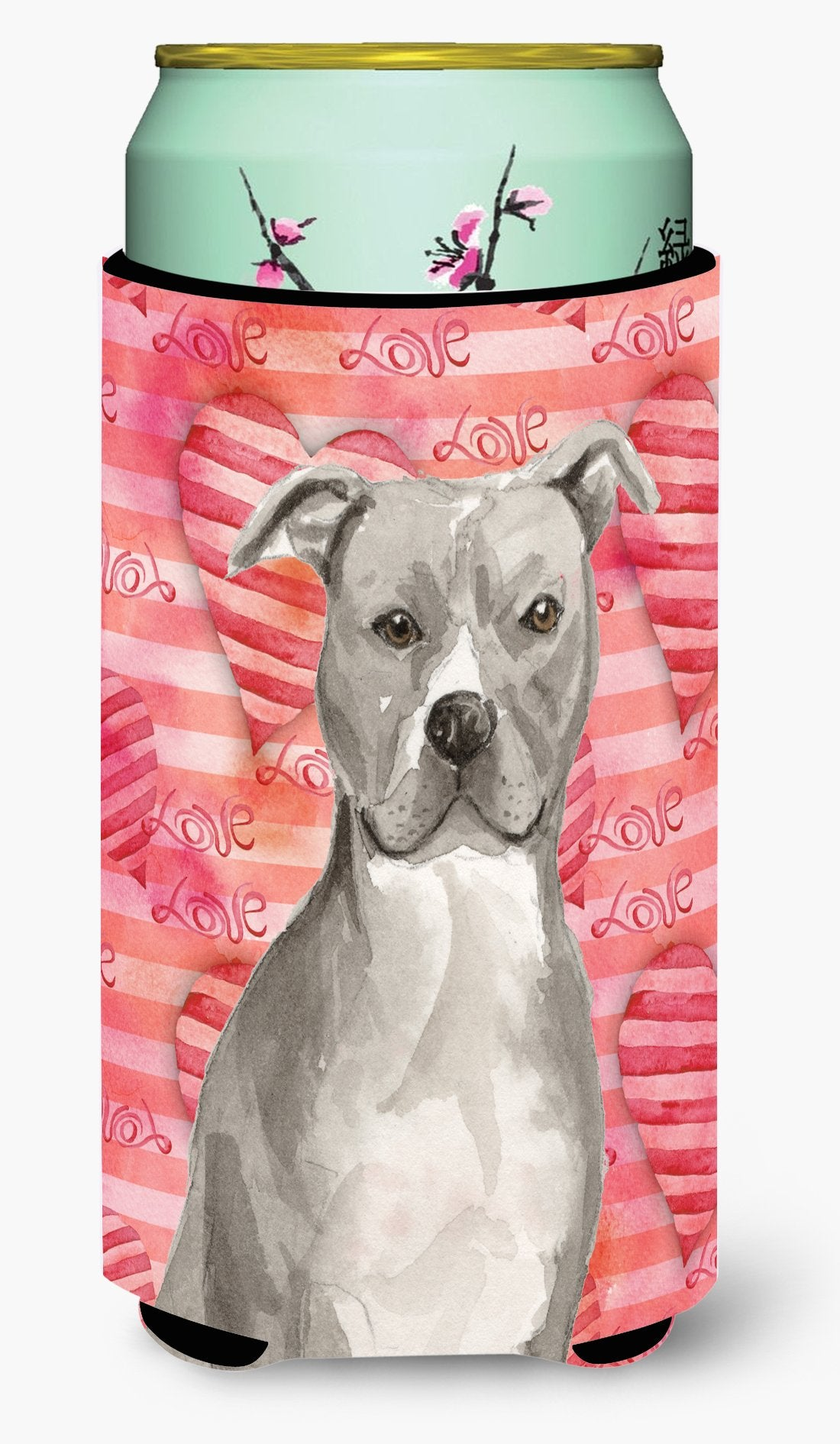 Staffordshire Bull Terrier Love Tall Boy Beverage Insulator Hugger BB9465TBC by Caroline's Treasures