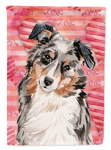 Buy this Australian Shepherd Love Flag Canvas House Size BB9467CHF