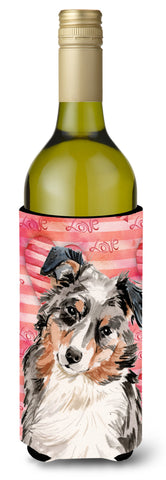 Buy this Australian Shepherd Love Wine Bottle Beverge Insulator Hugger BB9467LITERK