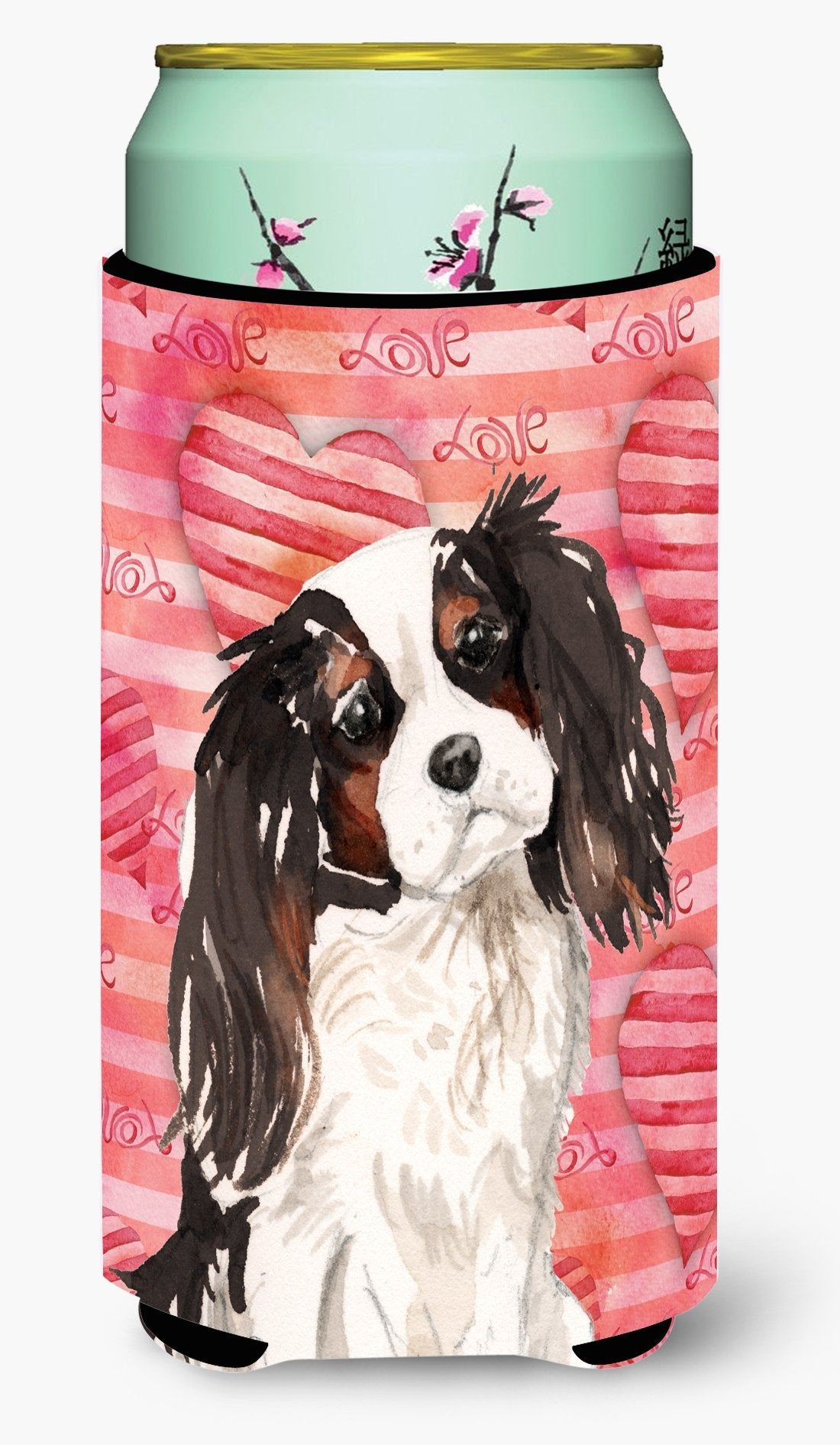 Tricolor Cavalier Spaniel Love Tall Boy Beverage Insulator Hugger BB9472TBC by Caroline's Treasures