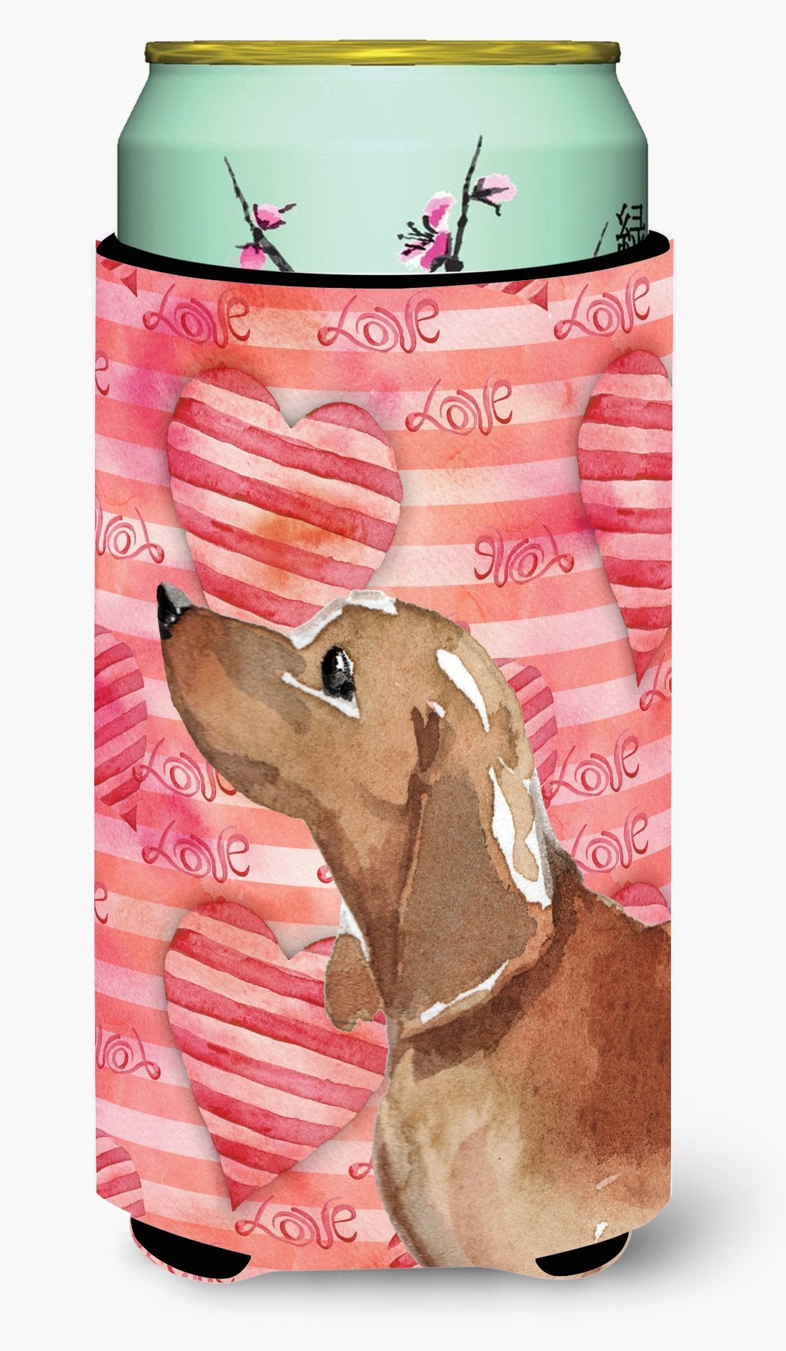 Red Tan Dachshund Love Tall Boy Beverage Insulator Hugger BB9476TBC by Caroline's Treasures