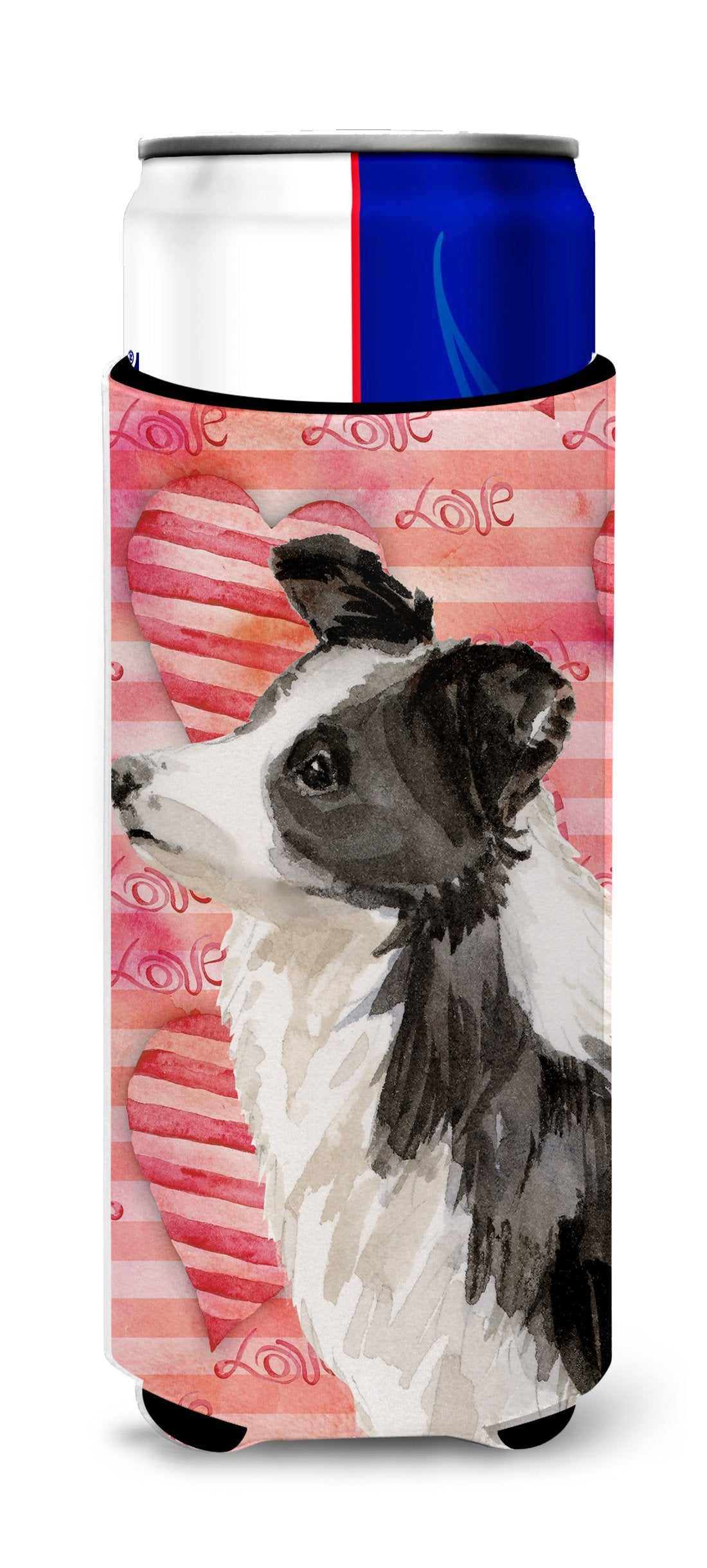 Border Collie Love Michelob Ultra Hugger for slim cans BB9478MUK by Caroline's Treasures