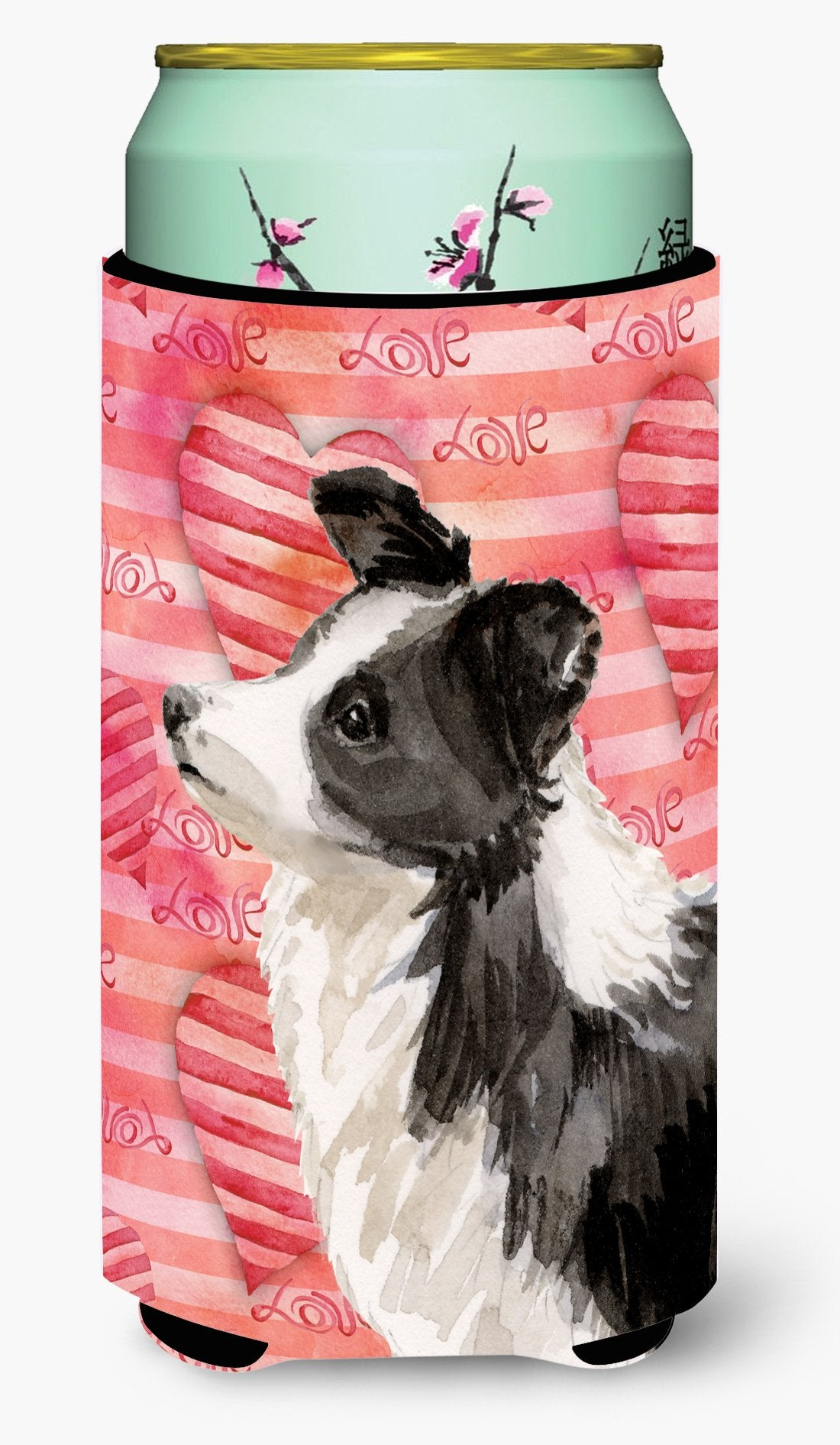 Border Collie Love Tall Boy Beverage Insulator Hugger BB9478TBC by Caroline's Treasures