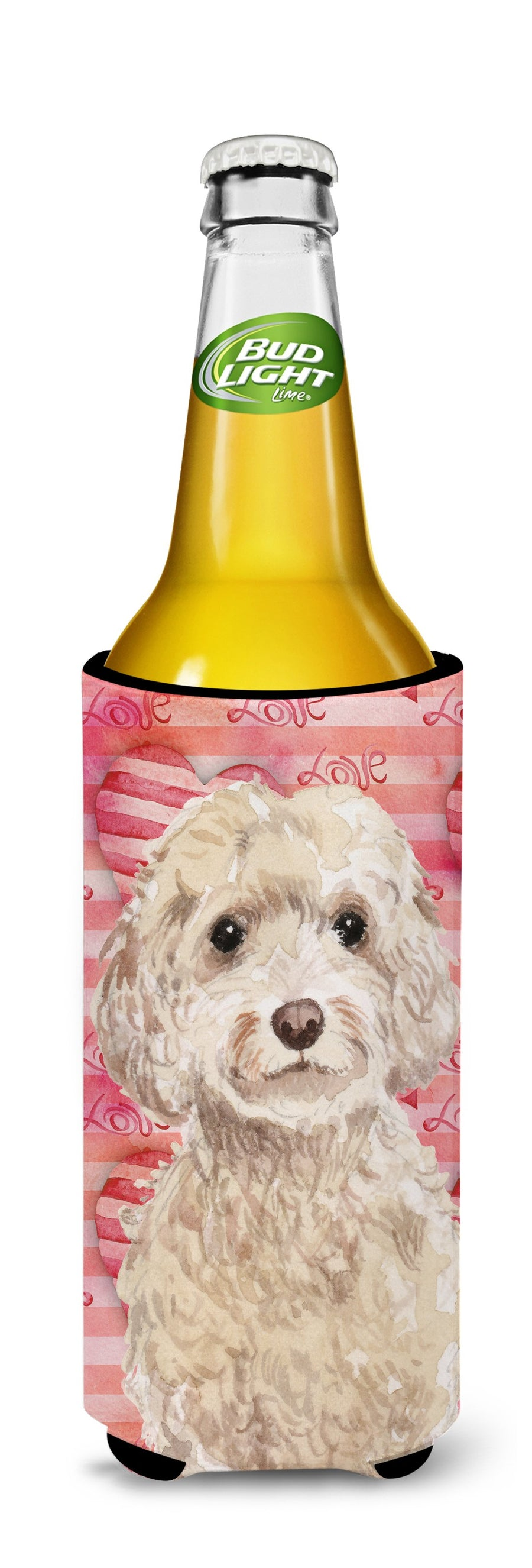 Buy this Champagne Cockapoo Love Michelob Ultra Hugger for slim cans BB9480MUK
