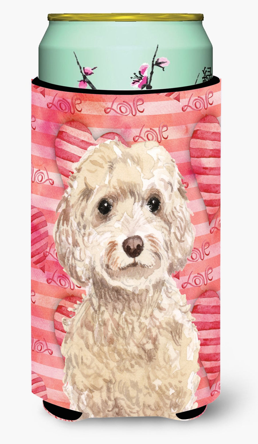 Buy this Champagne Cockapoo Love Tall Boy Beverage Insulator Hugger BB9480TBC