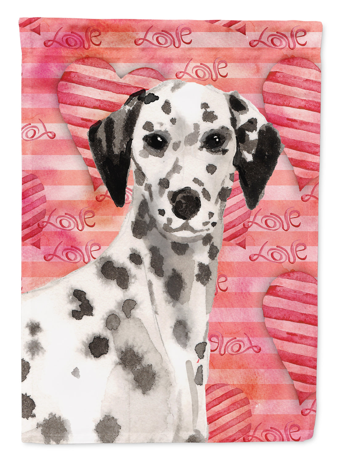 Dalmatian Love Flag Canvas House Size BB9485CHF by Caroline's Treasures