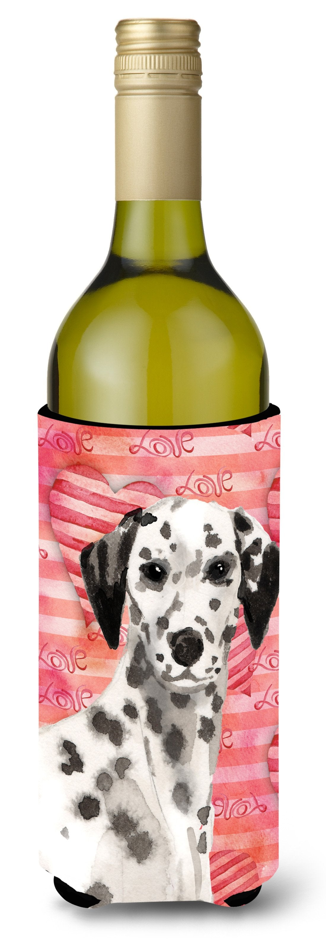 Dalmatian Love Wine Bottle Beverge Insulator Hugger BB9485LITERK by Caroline's Treasures