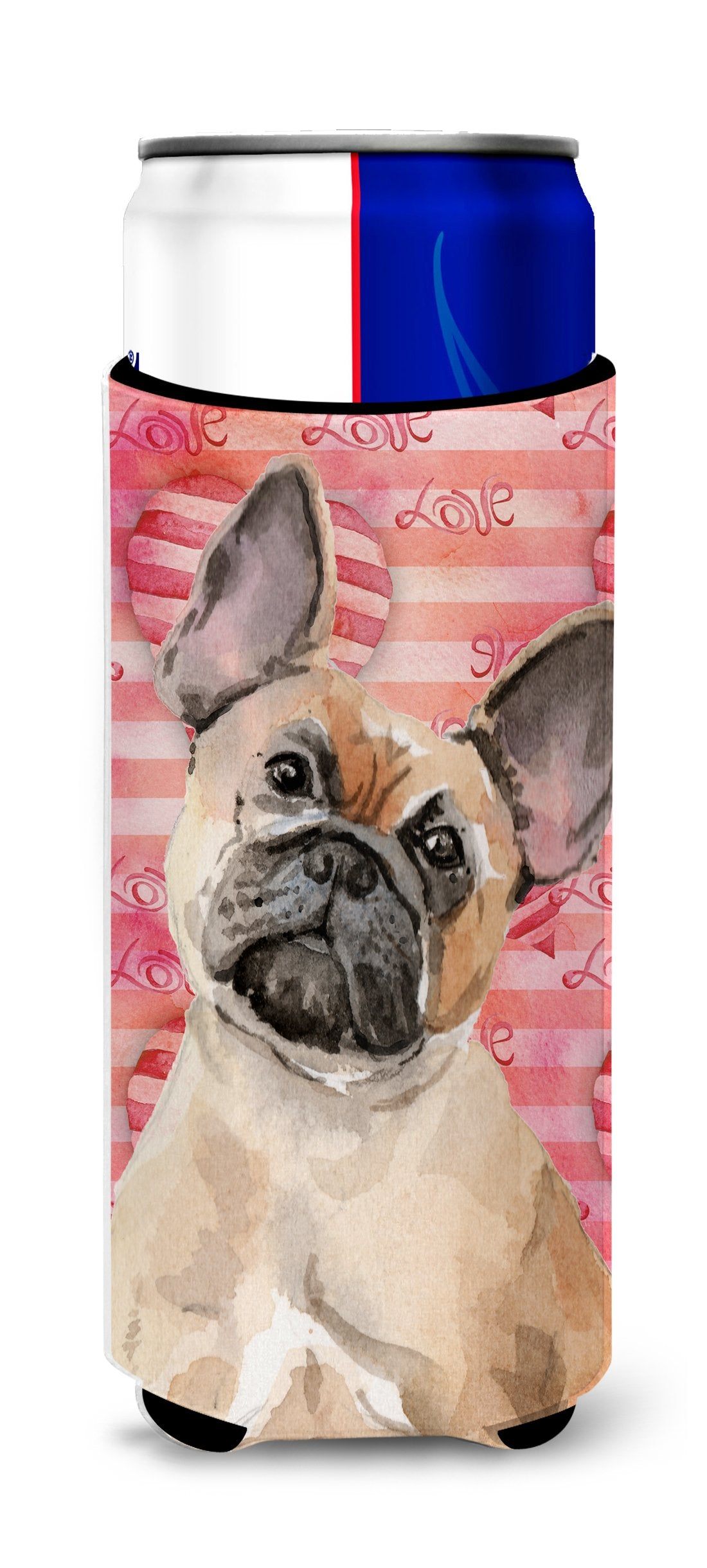 Fawn French Bulldog Love Michelob Ultra Hugger for slim cans BB9487MUK by Caroline's Treasures