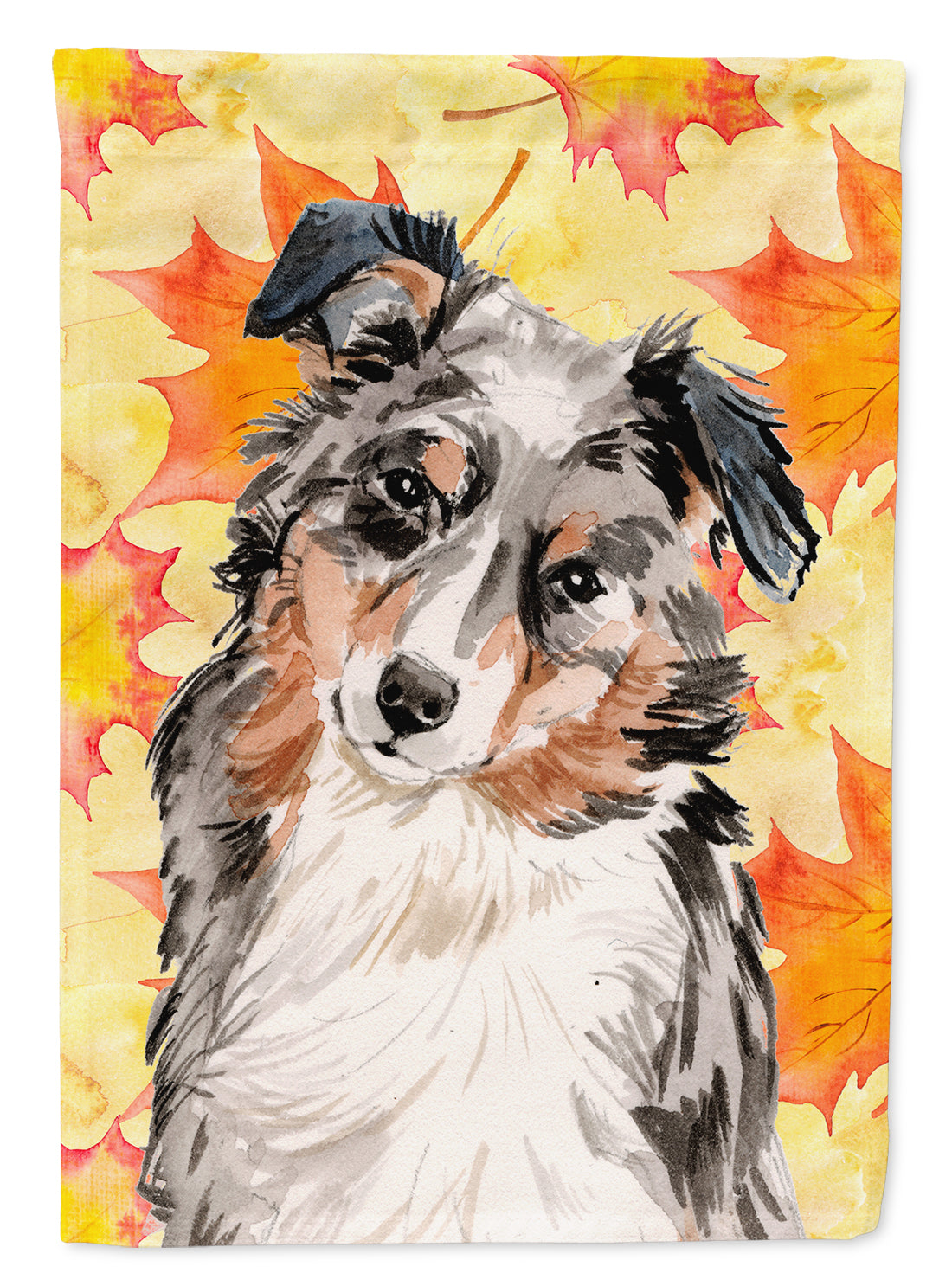 Australian Shepherd Fall Flag Canvas House Size BB9502CHF by Caroline's Treasures