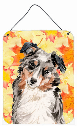 Buy this Australian Shepherd Fall Wall or Door Hanging Prints BB9502DS1216