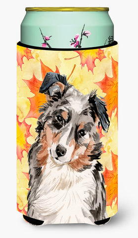 Buy this Australian Shepherd Fall Tall Boy Beverage Insulator Hugger BB9502TBC