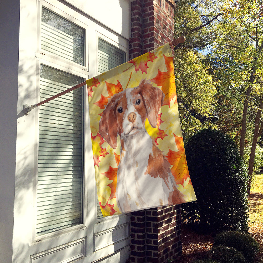 Brittany Spaniel Fall Flag Canvas House Size BB9504CHF by Caroline's Treasures