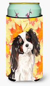 Tricolor Cavalier Spaniel Fall Tall Boy Beverage Insulator Hugger BB9507TBC by Caroline's Treasures