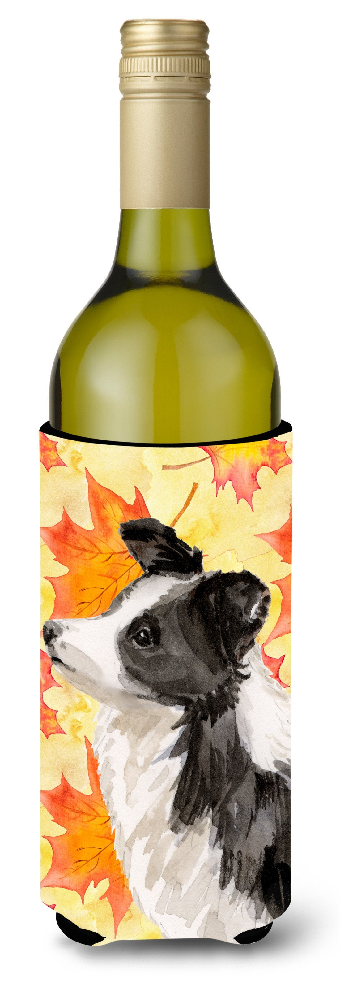 Border Collie Fall Wine Bottle Beverge Insulator Hugger BB9513LITERK by Caroline's Treasures