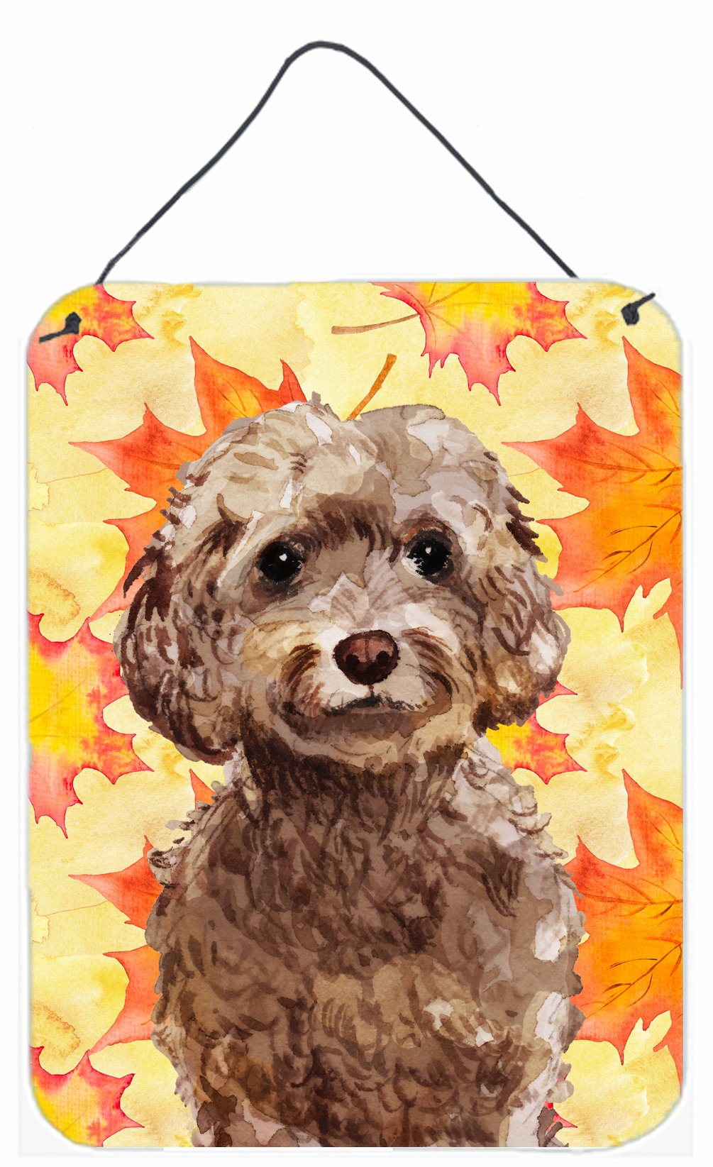 Buy this Brown Cockapoo Fall Wall or Door Hanging Prints BB9514DS1216