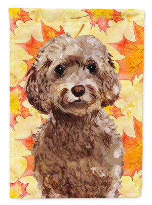 Buy this Brown Cockapoo Fall Flag Garden Size BB9514GF