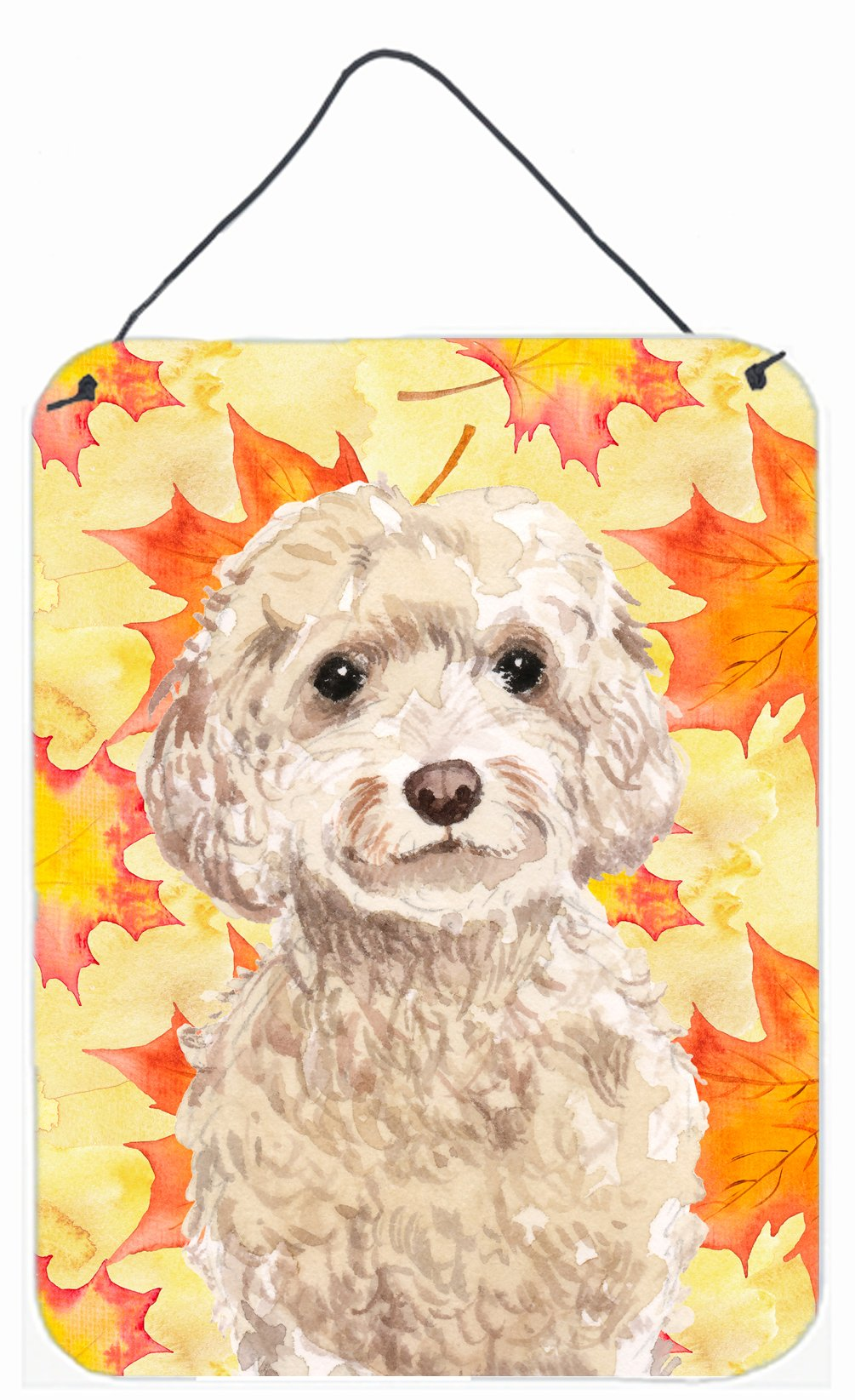Buy this Champagne Cockapoo Fall Wall or Door Hanging Prints BB9515DS1216