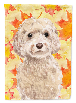 Buy this Champagne Cockapoo Fall Flag Garden Size BB9515GF