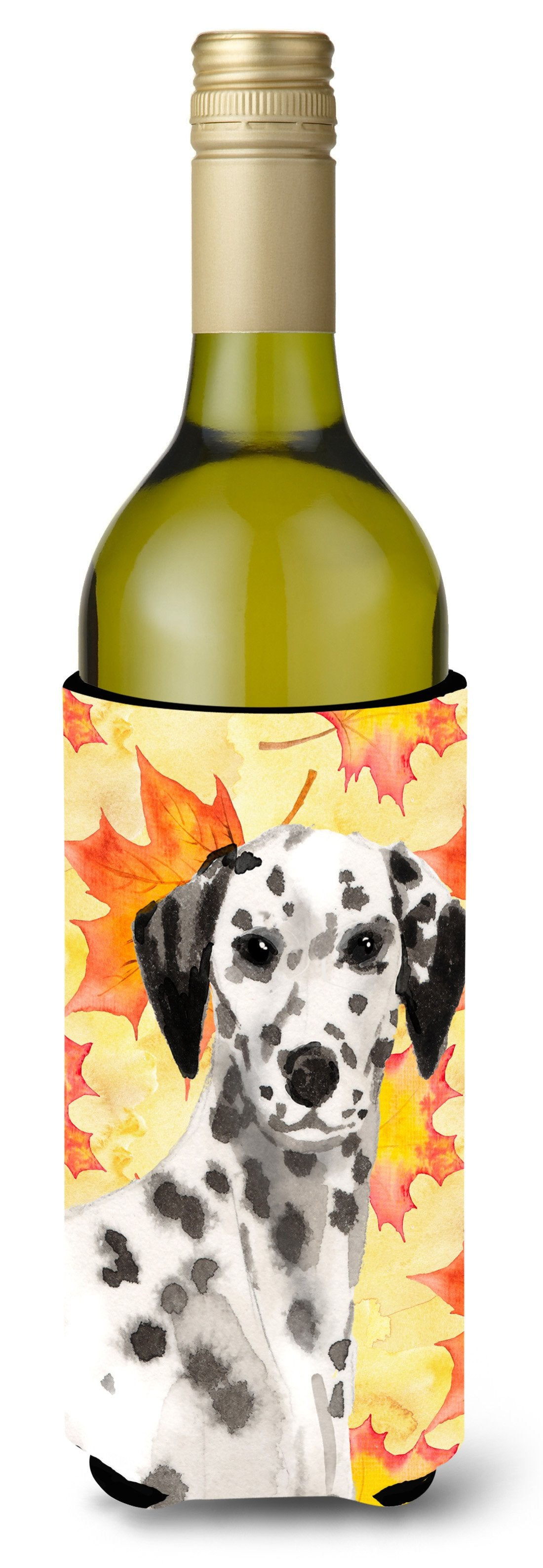 Dalmatian Fall Wine Bottle Beverge Insulator Hugger BB9520LITERK by Caroline's Treasures