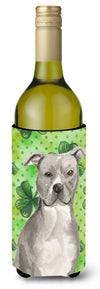Buy this Staffordshire Bull Terrier St. Patrick's Wine Bottle Beverge Insulator Hugger BB9535LITERK