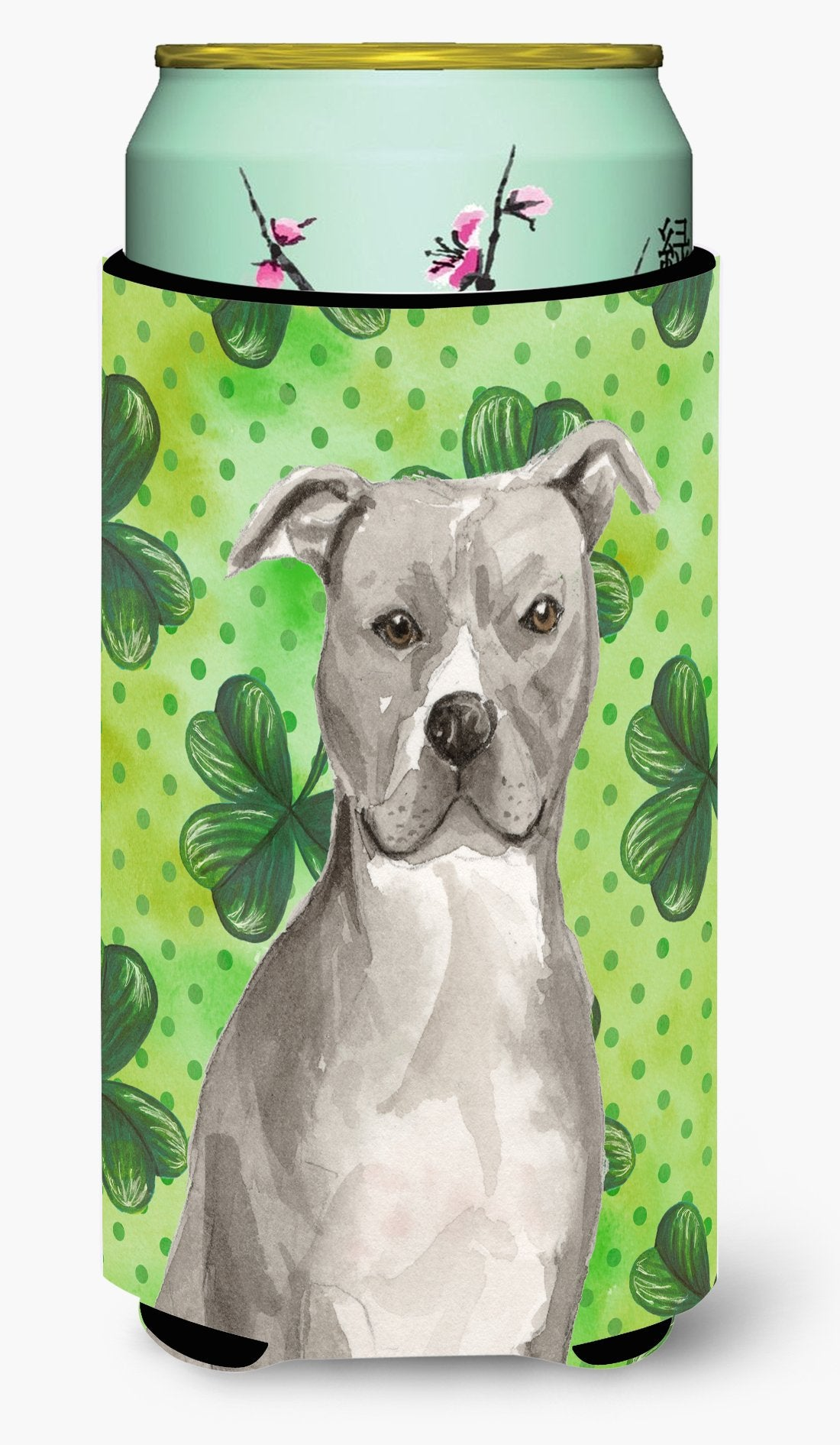 Staffordshire Bull Terrier St. Patrick's Tall Boy Beverage Insulator Hugger BB9535TBC by Caroline's Treasures