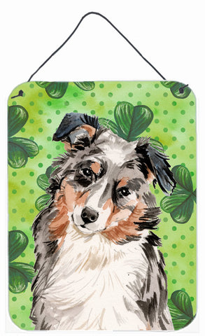Buy this Australian Shepherd St. Patrick's Wall or Door Hanging Prints BB9537DS1216