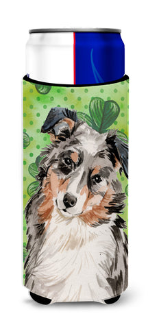 Buy this Australian Shepherd St. Patrick's Michelob Ultra Hugger for slim cans BB9537MUK