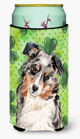 Buy this Australian Shepherd St. Patrick's Tall Boy Beverage Insulator Hugger BB9537TBC