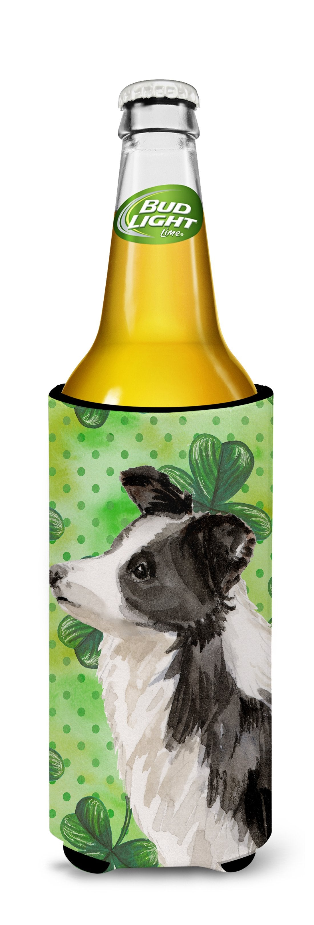 Border Collie St. Patrick's Michelob Ultra Hugger for slim cans BB9548MUK by Caroline's Treasures