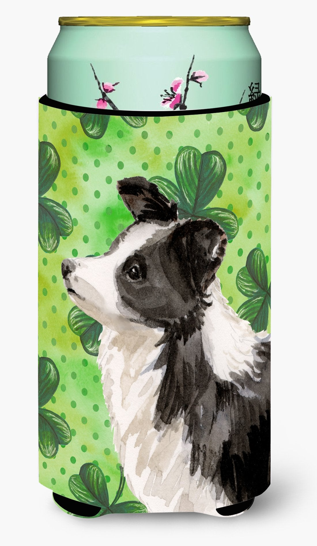 Border Collie St. Patrick's Tall Boy Beverage Insulator Hugger BB9548TBC by Caroline's Treasures