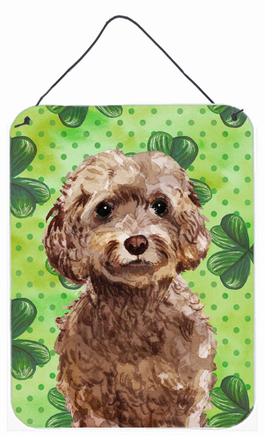 Buy this Brown Cockapoo St. Patrick's Wall or Door Hanging Prints BB9549DS1216