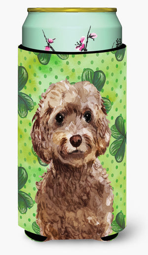 Buy this Brown Cockapoo St. Patrick's Tall Boy Beverage Insulator Hugger BB9549TBC