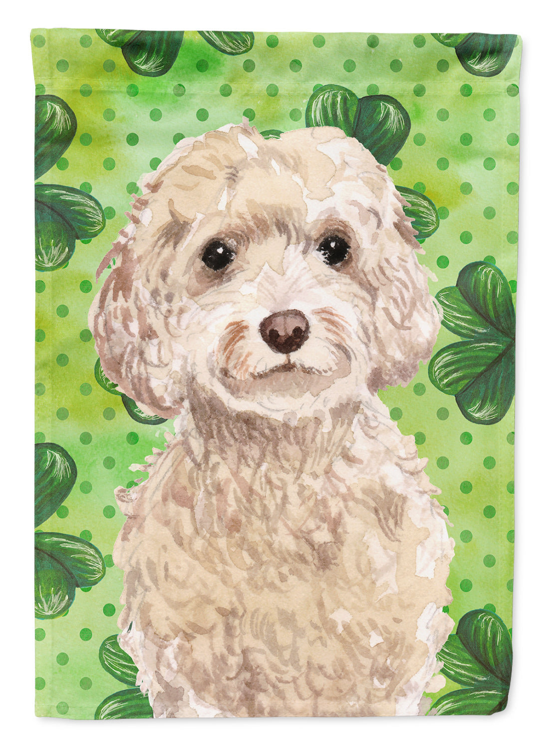 Buy this Champagne Cockapoo St. Patrick's Flag Canvas House Size BB9550CHF