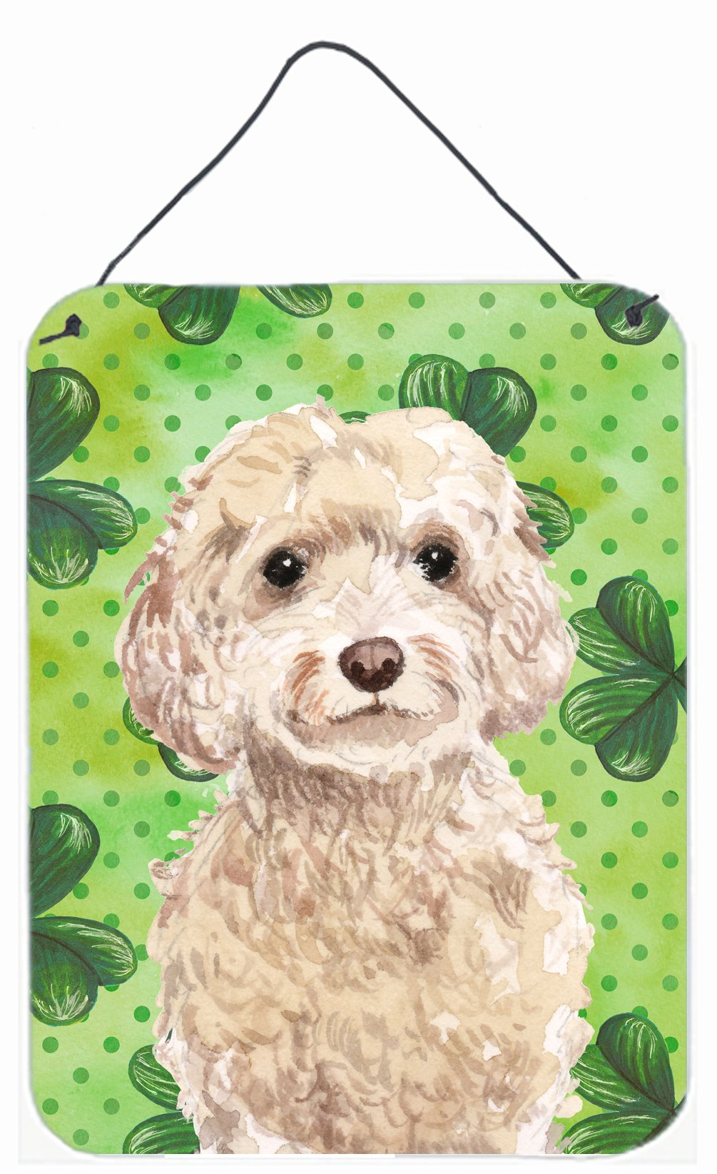 Buy this Champagne Cockapoo St. Patrick's Wall or Door Hanging Prints BB9550DS1216