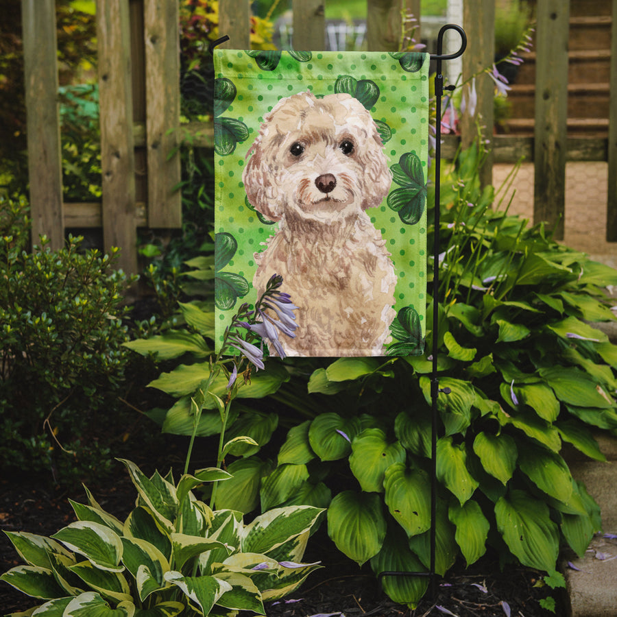 Buy this Champagne Cockapoo St. Patrick's Flag Garden Size BB9550GF