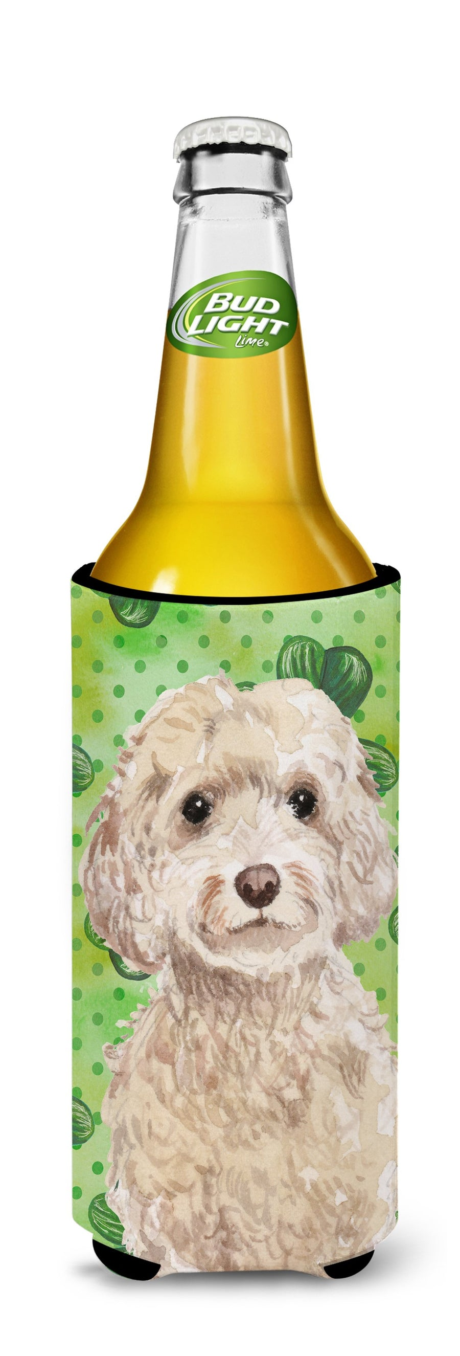Buy this Champagne Cockapoo St. Patrick's Michelob Ultra Hugger for slim cans BB9550MUK