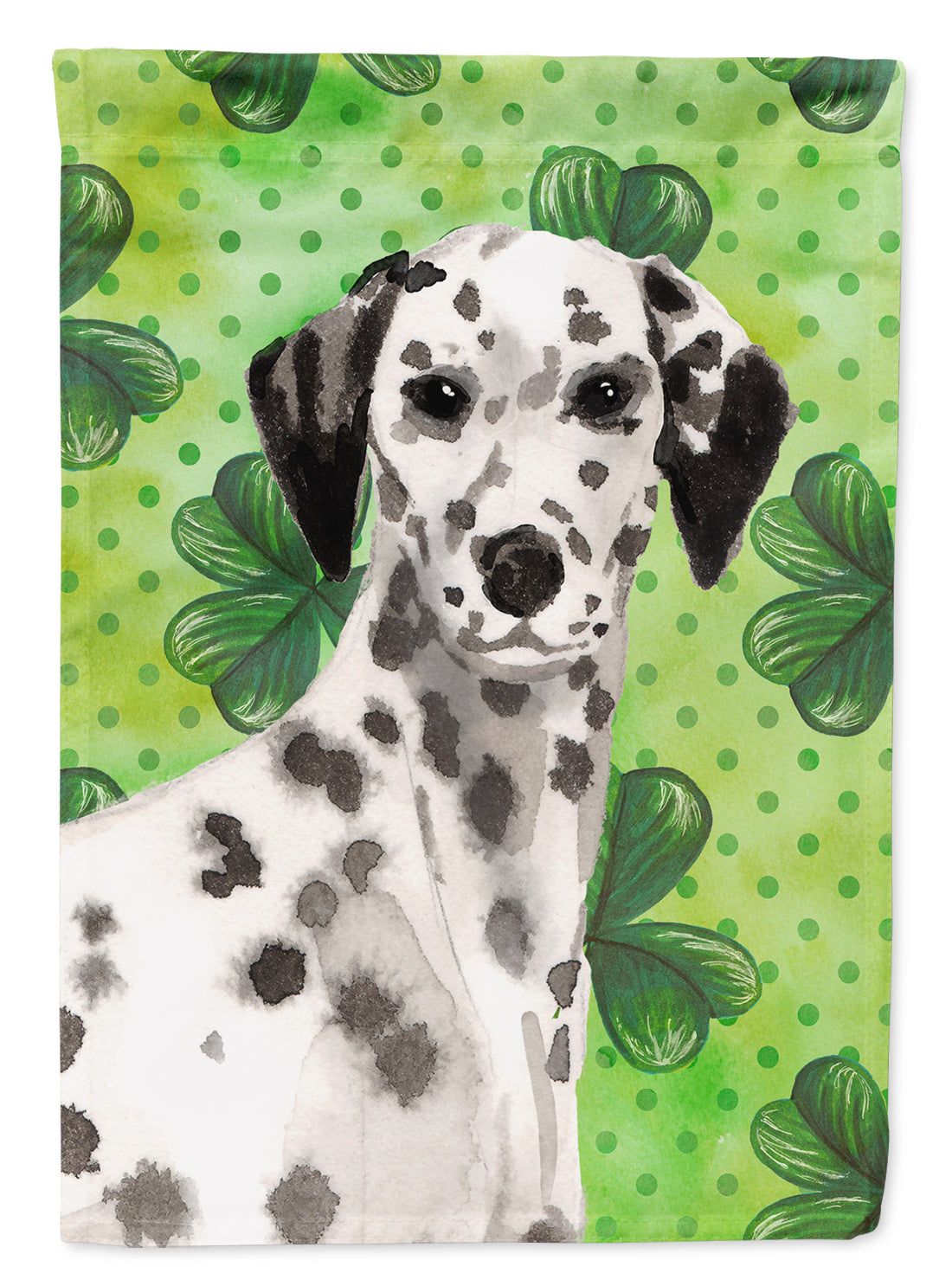 Dalmatian St. Patrick's Flag Canvas House Size BB9555CHF by Caroline's Treasures