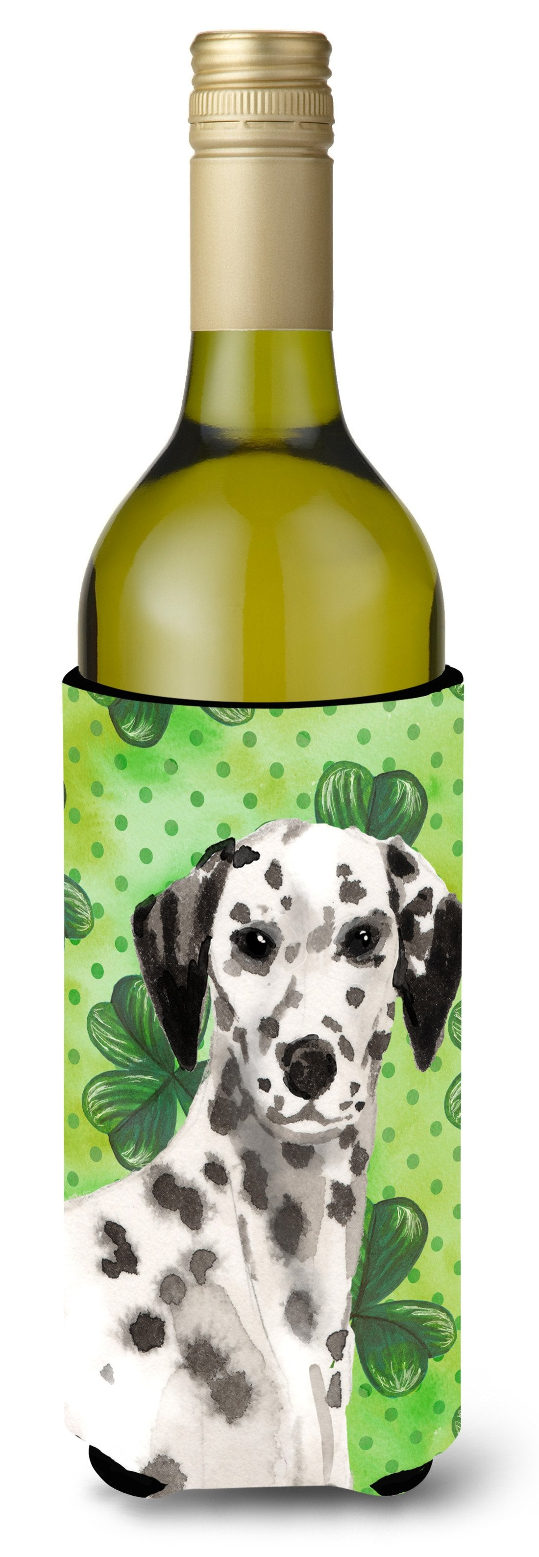Dalmatian St. Patrick's Wine Bottle Beverge Insulator Hugger BB9555LITERK by Caroline's Treasures