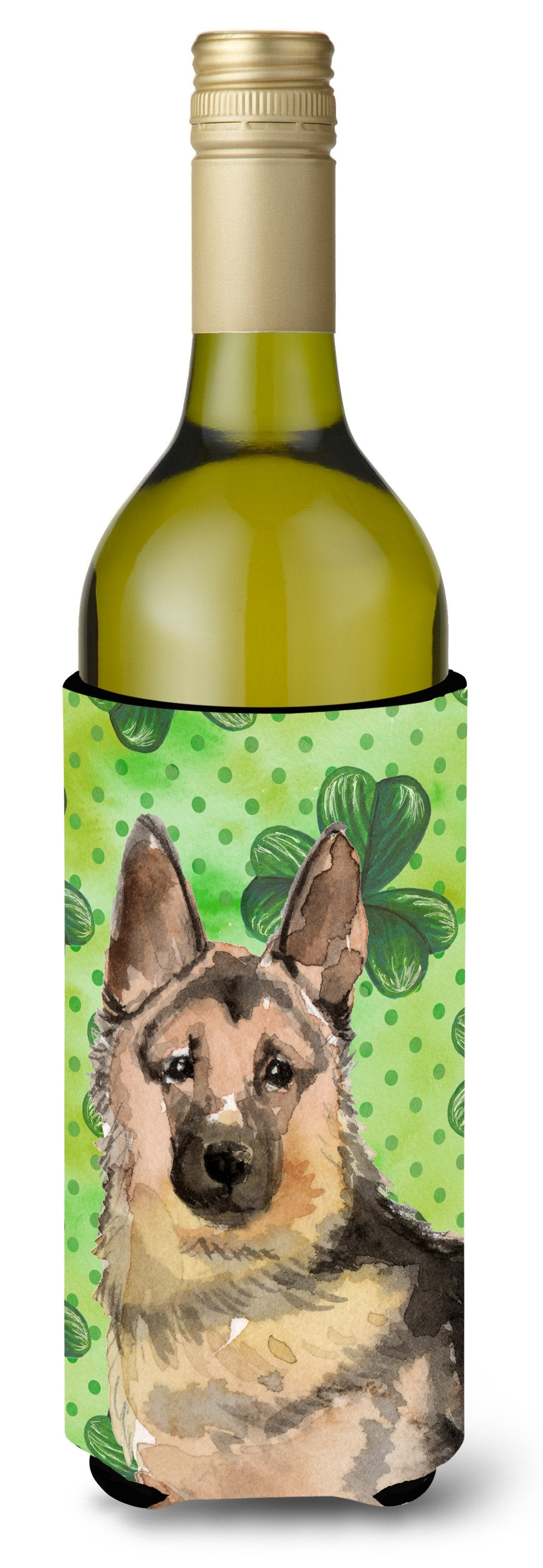 Buy this German Shepherd St. Patrick's Wine Bottle Beverge Insulator Hugger