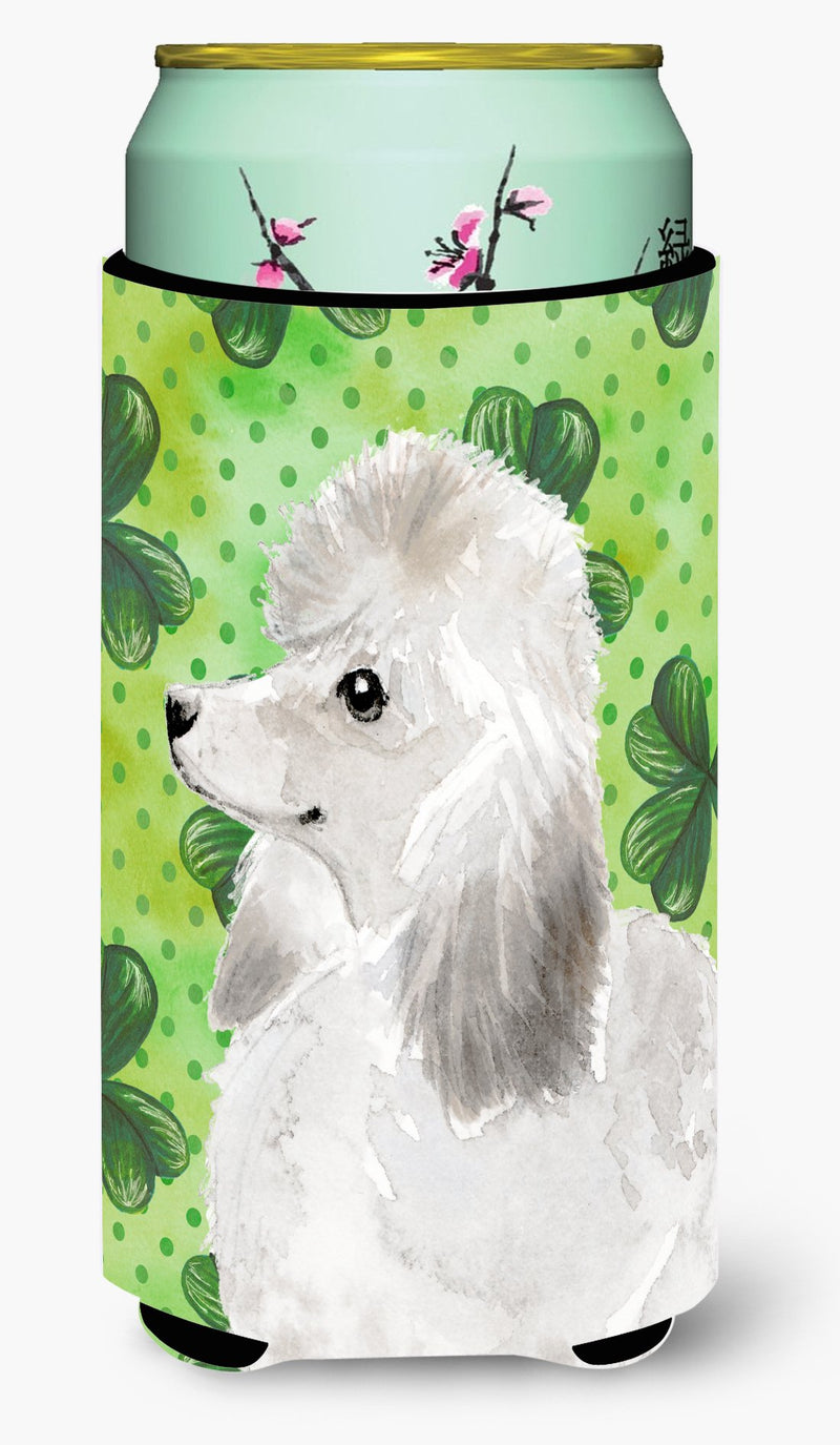 Buy this White Standard Poodle St. Patrick's Tall Boy Beverage Insulator Hugger