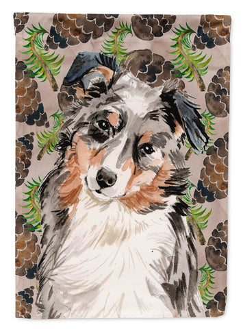 Buy this Australian Shepherd Pine Cones Flag Canvas House Size BB9572CHF