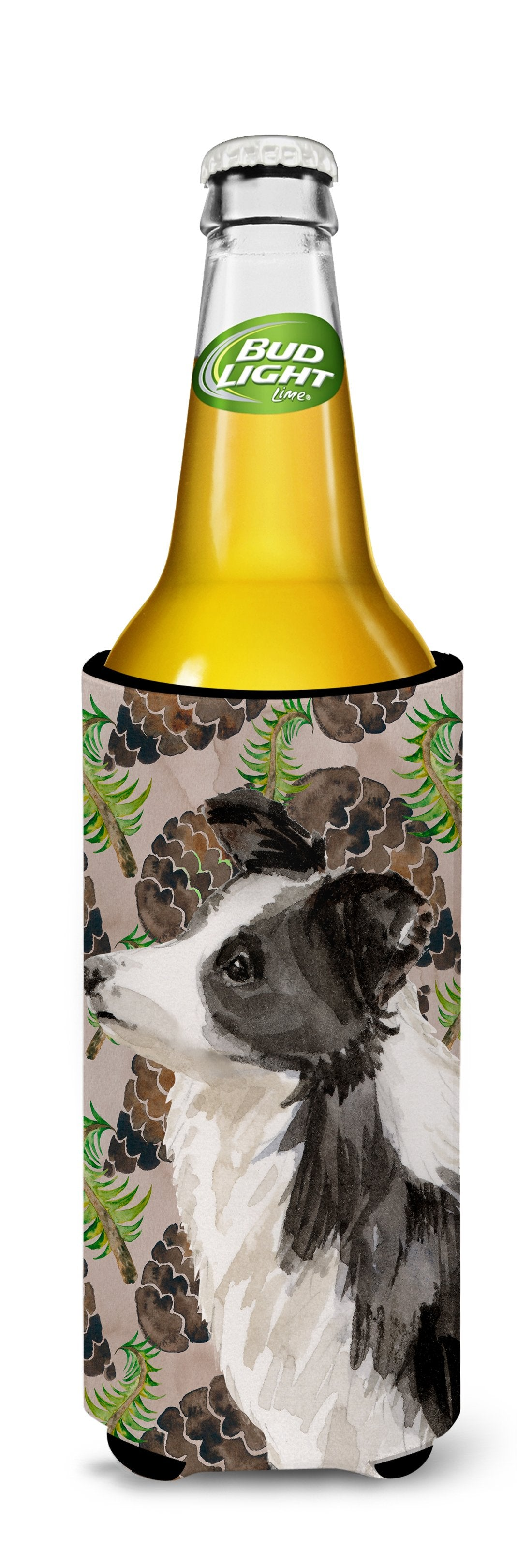 Border Collie Pine Cones Michelob Ultra Hugger for slim cans BB9583MUK by Caroline's Treasures
