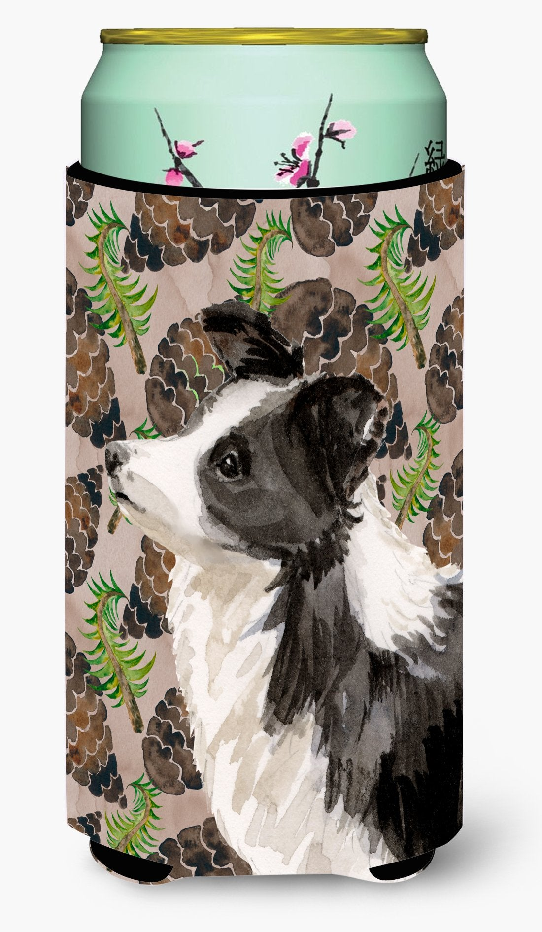 Border Collie Pine Cones Tall Boy Beverage Insulator Hugger BB9583TBC by Caroline's Treasures