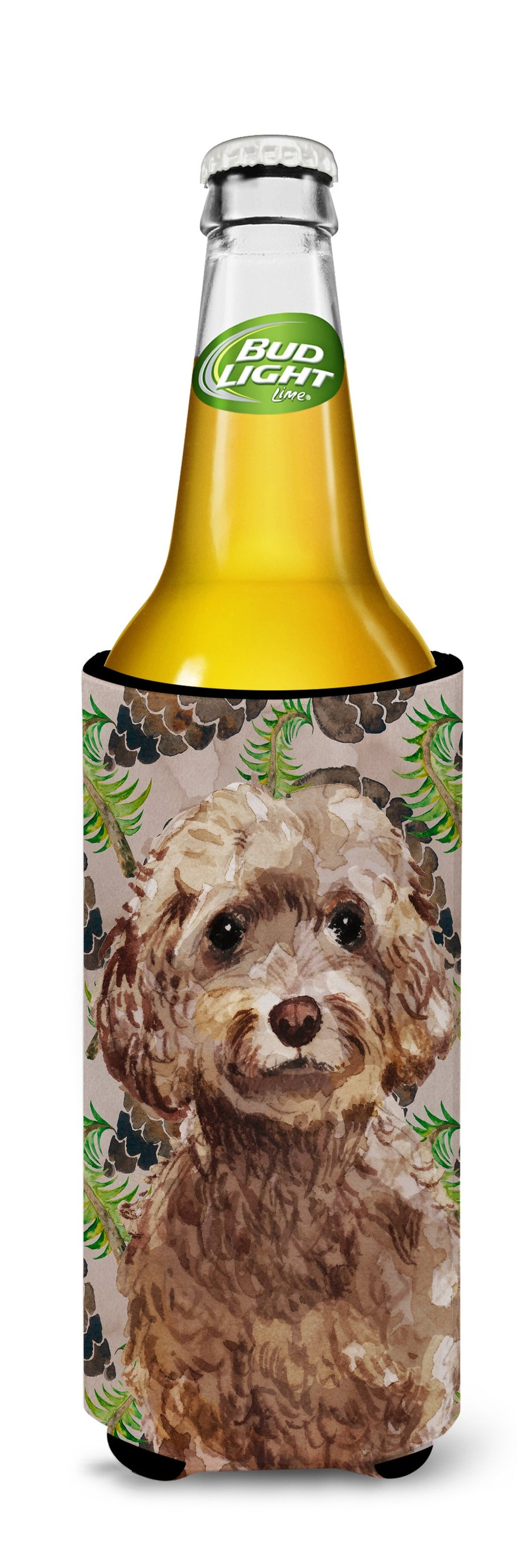 Buy this Brown Cockapoo Pine Cones Michelob Ultra Hugger for slim cans BB9584MUK