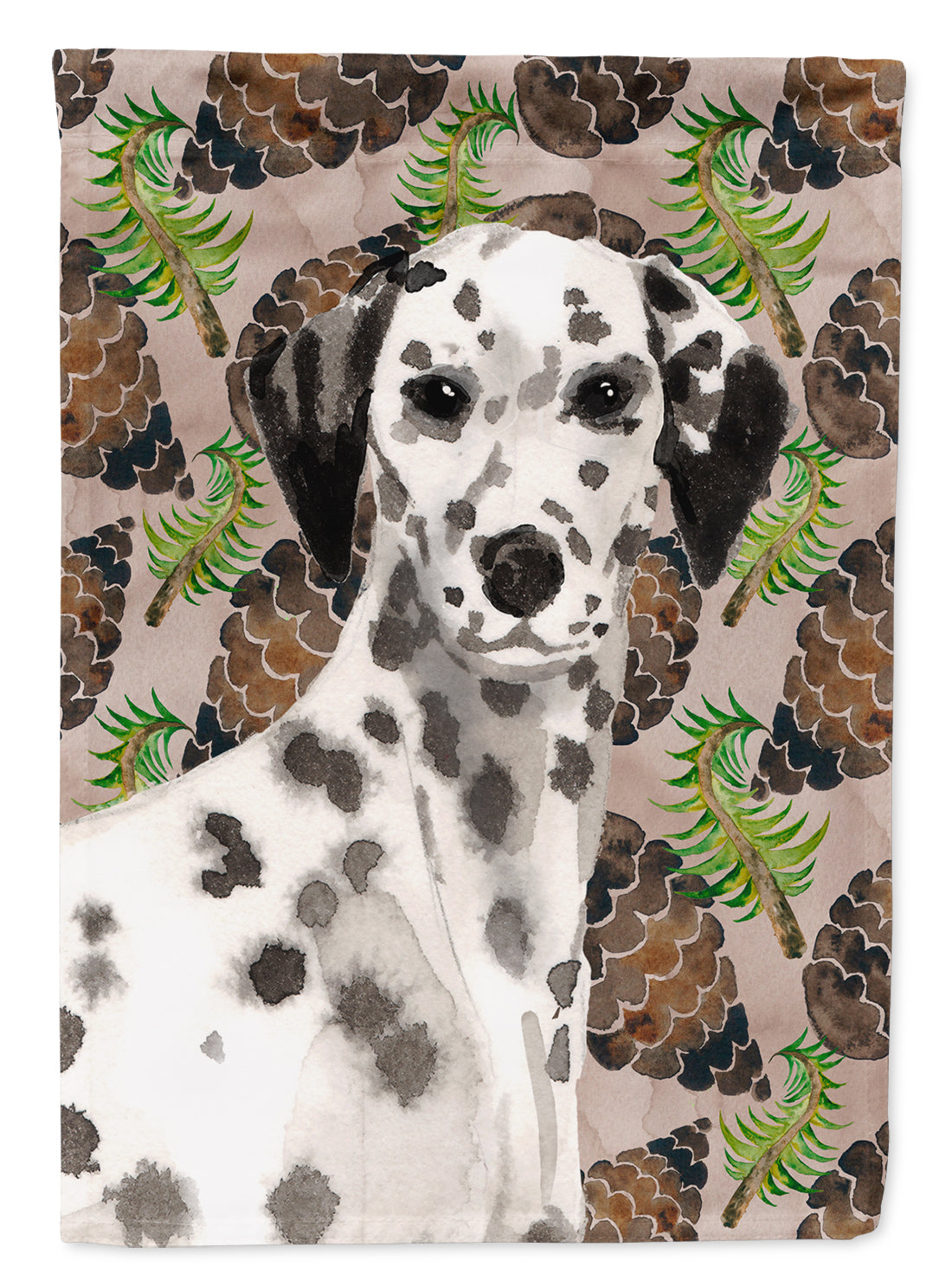 Dalmatian Pine Cones Flag Canvas House Size BB9590CHF by Caroline's Treasures