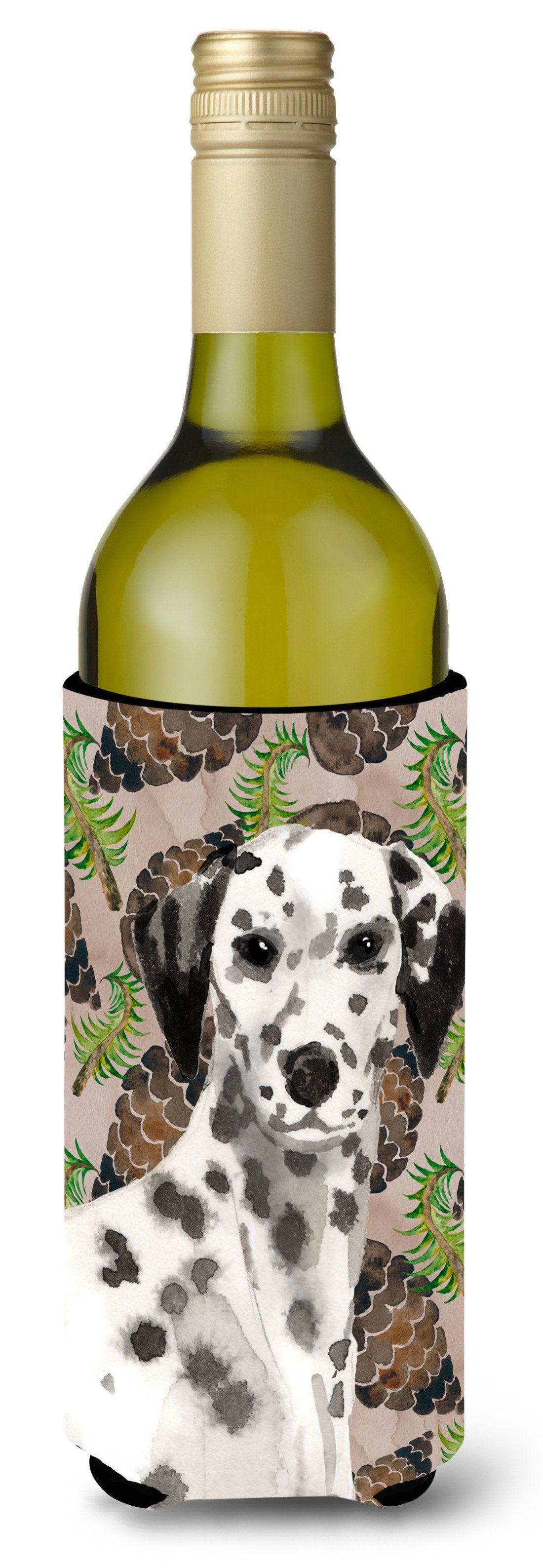Dalmatian Pine Cones Wine Bottle Beverge Insulator Hugger BB9590LITERK by Caroline's Treasures