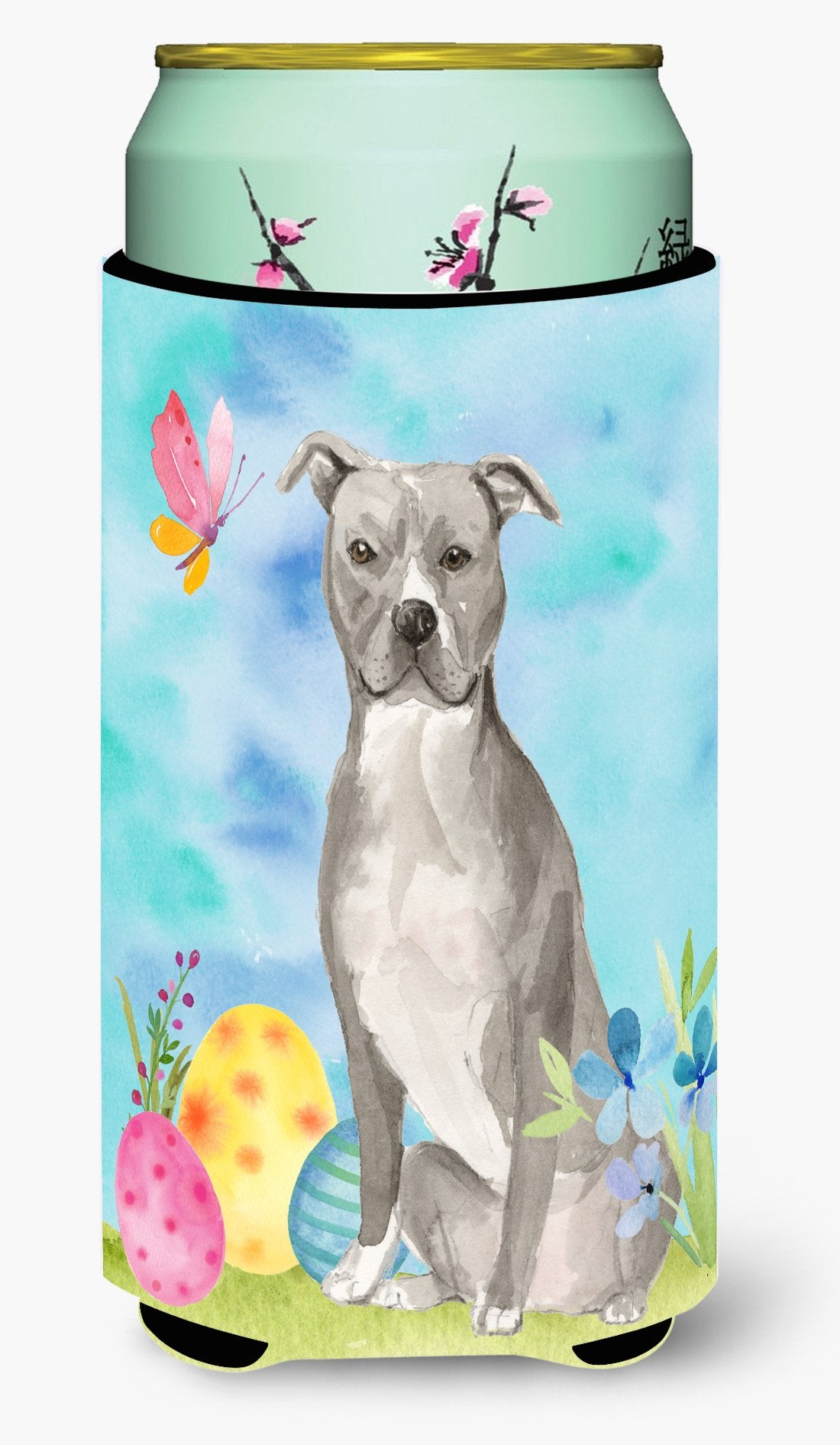 Staffordshire Bull Terrier Easter Tall Boy Beverage Insulator Hugger BB9605TBC by Caroline's Treasures