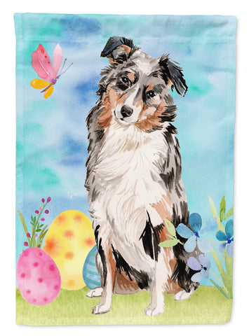 Buy this Australian Shepherd Easter Flag Canvas House Size BB9607CHF
